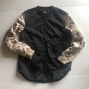 Jaywalker black and bronze bomber jacket